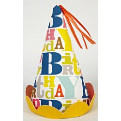 Bright Pattern Birthday Party Hats