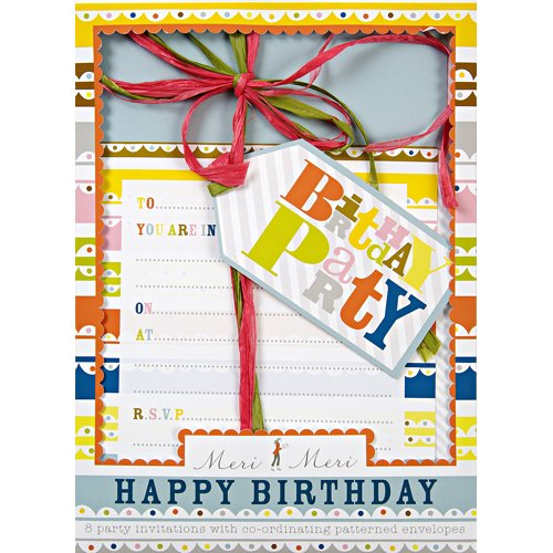 Bright Pattern Birthday Party Invitations