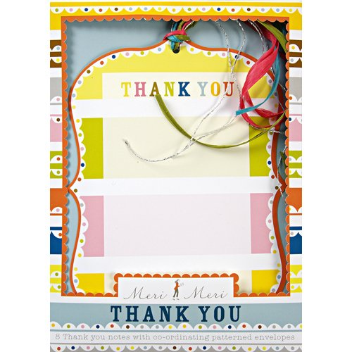Bright Pattern Birthday Party Thank You Notes