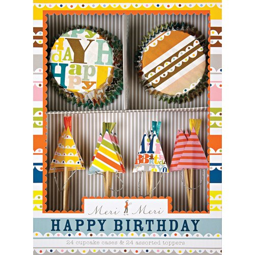 Bright Pattern Birthday Party Cupcake Kit