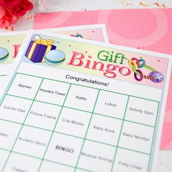 Personalized Baby Gift Bingo Game
