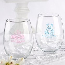 Personalized 15 oz. Stemless Wine Glass