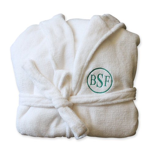 Personalized Plush Hooded Spa Robe