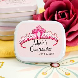 Personalized Princess Tiara Mint Tin