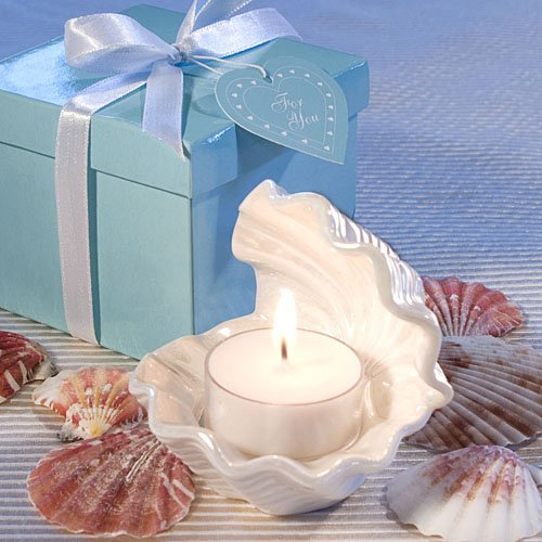Open Shell Candle Favor