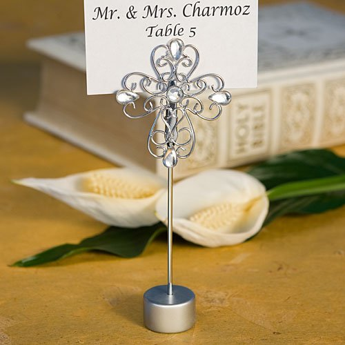 Jeweled Cross Place Card Holders