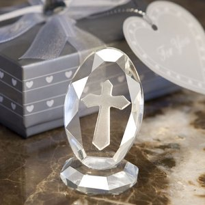Crystal Engraved Cross Keepsake