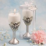 Angel Champagne Flute Candle Holders