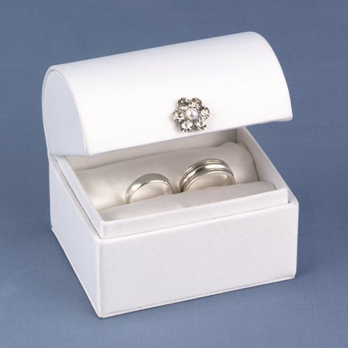 White Satin Ring Box