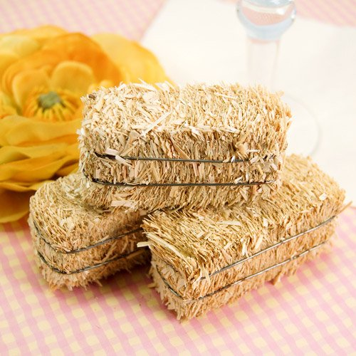 Mini hay bales mini hay bale wedding decorations for Bales of hay for decoration