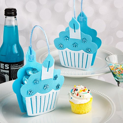 Blue Cupcake Treat Bags