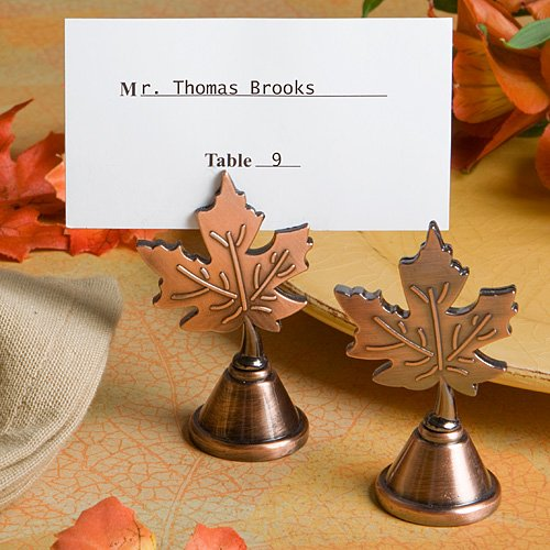 Autumn Leaf Copper Place Card Holders