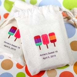 Personalized Party Theme Natural Cotton Favor Bag