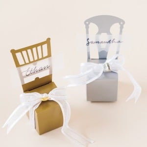 Chair Favor Box Place Card Holders