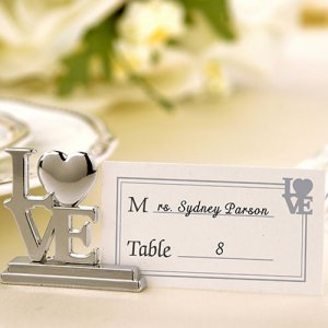 """LOVE"" Place Card Holders"