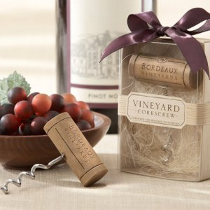 Vineyard Wine Cork Corkscrew Favor