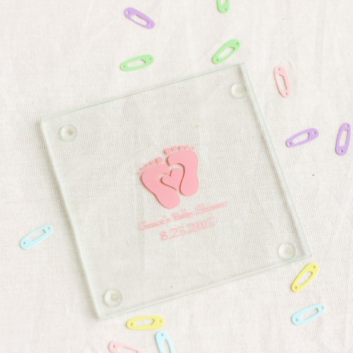 Personalized Baby Feet Glass Coasters
