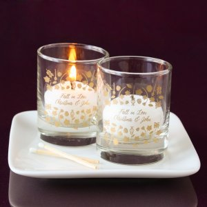 Personalized Shot Glass Votive Holder