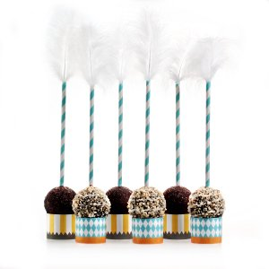 Classic Carnival Birthday Yellow and Blue Cake Pop Kit