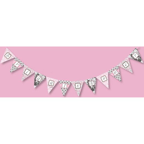 Brocade Bridal Shower Pink Banner