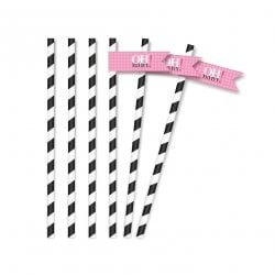 Vavavoom Vintage Baby Pink Straw Flags