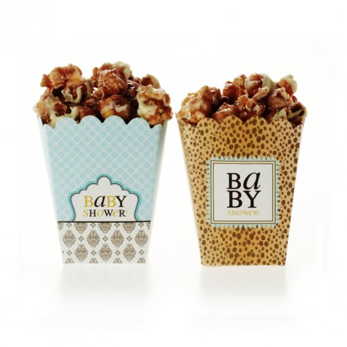 Leopard & Love Baby Blue Treat Boxes