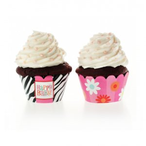 Bold Baby Bliss Pink Cupcake Wrappers
