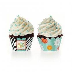 Bold Baby Bliss Blue Cupcake Wrappers