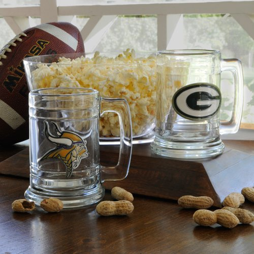 Personalized NFL Medallion Beer Mugs