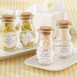 Personalized Baby Shower Vintage Milk Favor Jars
