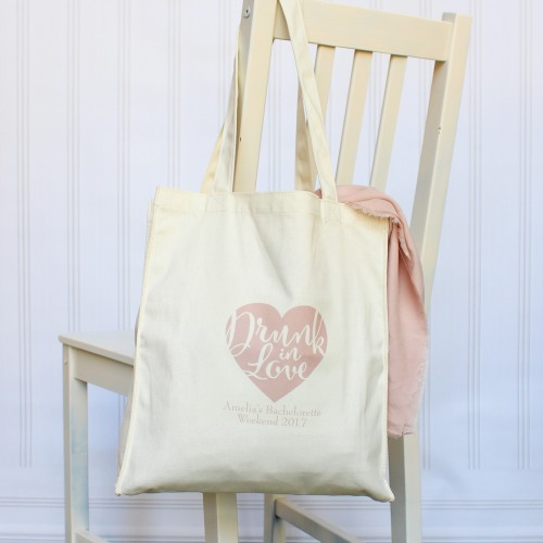 Personalized Drunk in Love Cotton Tote Bag