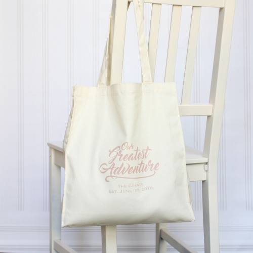 Personalized Greatest Adventure Tote