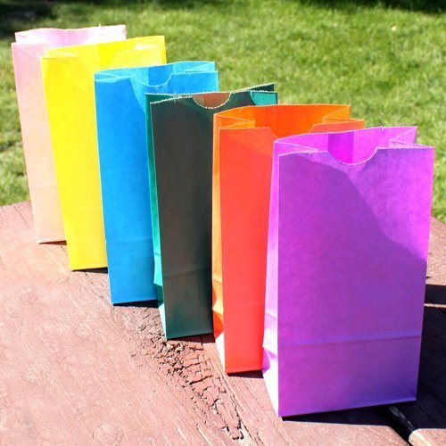 Self-Standing Color Paper Goodie Bags