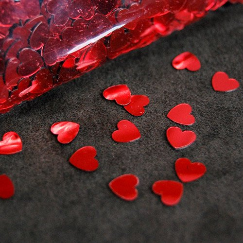Heart Shaped Red Confetti