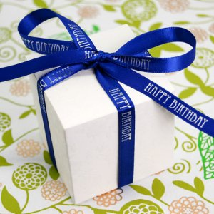 """Happy Birthday"" Favor Ribbon"