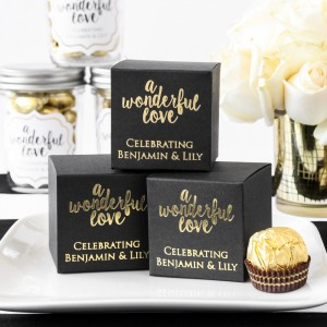 Personalized Square Favor Box