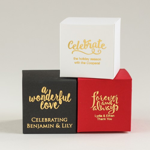 Personalized Square Favor Boxes