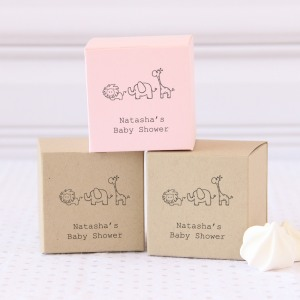 Personalized Baby Shower Square Favor Box