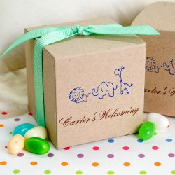 Personalized Eco-Friendly Kraft Square Favor Box