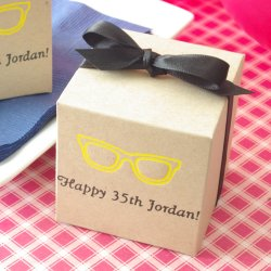 Personalized Birthday Square Favor Box