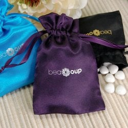 Corporate Logo Color Satin Favor Bag