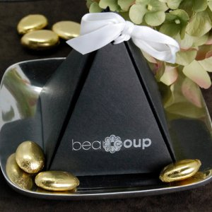 Corporate Logo Pyramid Favor Box