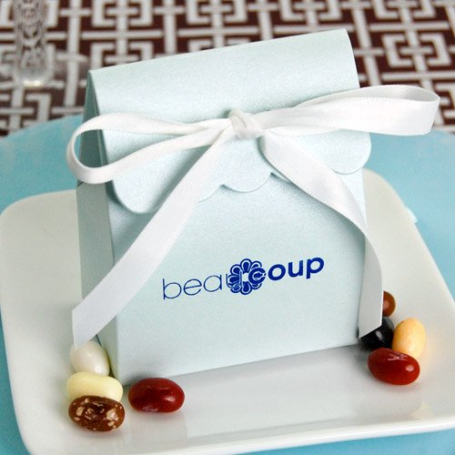 Corporate Logo Scalloped Favor Box