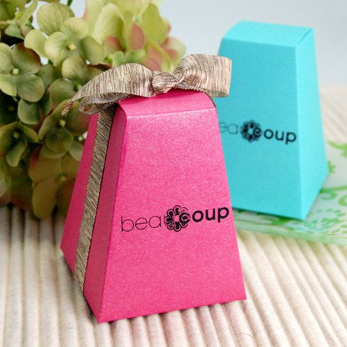 Corporate Logo Pedestal Favor Boxes