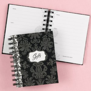 Damask Bridal Shower Gift Book