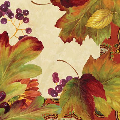 Leaves N' Berries Luncheon Napkin