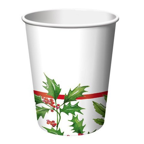 Glistening Holly 9 oz Hot/Cold Cup