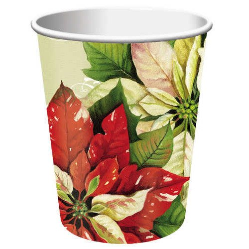 Vintage Poinsettia 9 oz. Cup