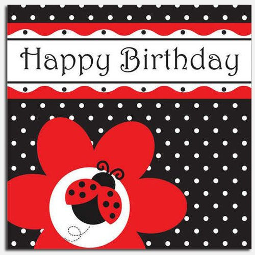 Ladybug Fancy Birthday Luncheon Napkin