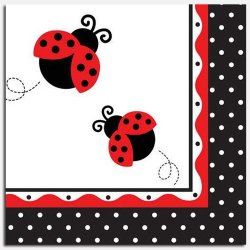 Ladybug Fancy Luncheon Napkins